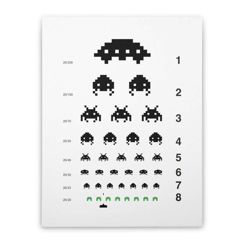 Gamers   Eye Test Home Stretched Canvas by tshirtbaba's Artist Shop