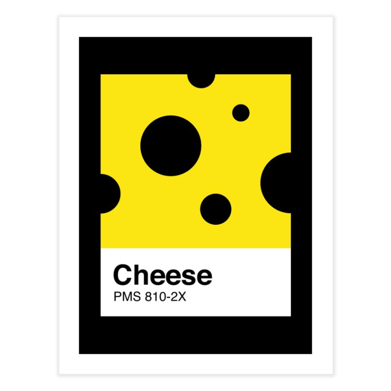 Cheese pantone Home Fine Art Print by tshirtbaba's Artist Shop