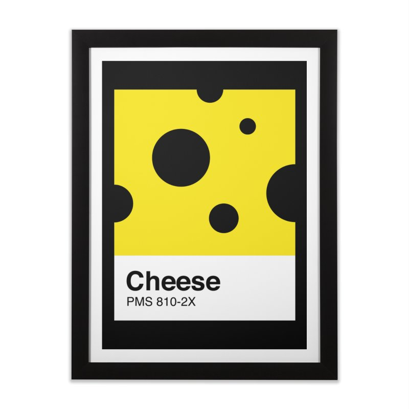 Cheese pantone Home Framed Fine Art Print by tshirtbaba's Artist Shop