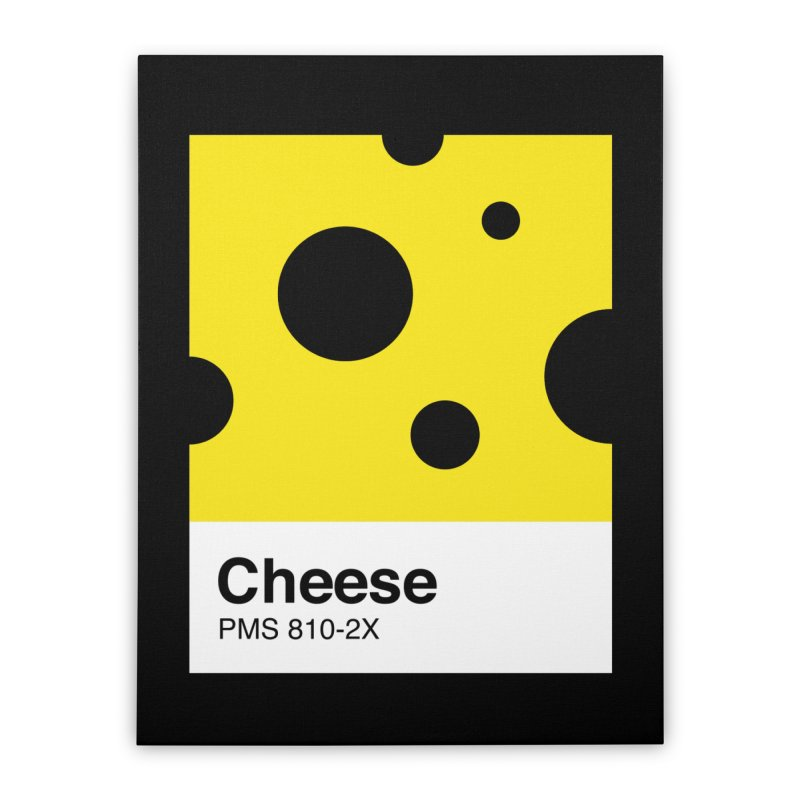 Cheese pantone Home Stretched Canvas by tshirtbaba's Artist Shop
