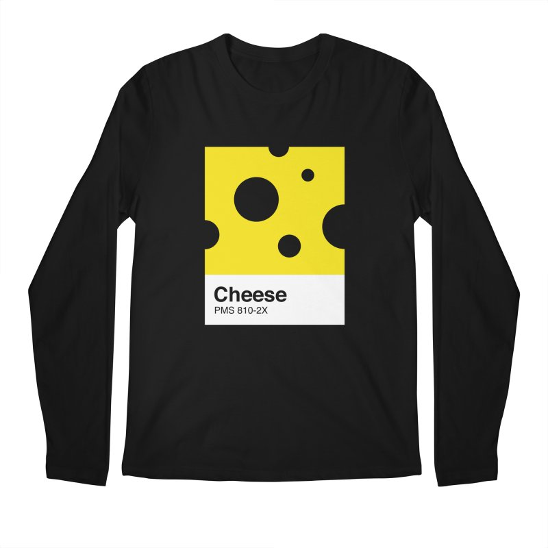 Cheese pantone Men's Regular Longsleeve T-Shirt by tshirtbaba's Artist Shop