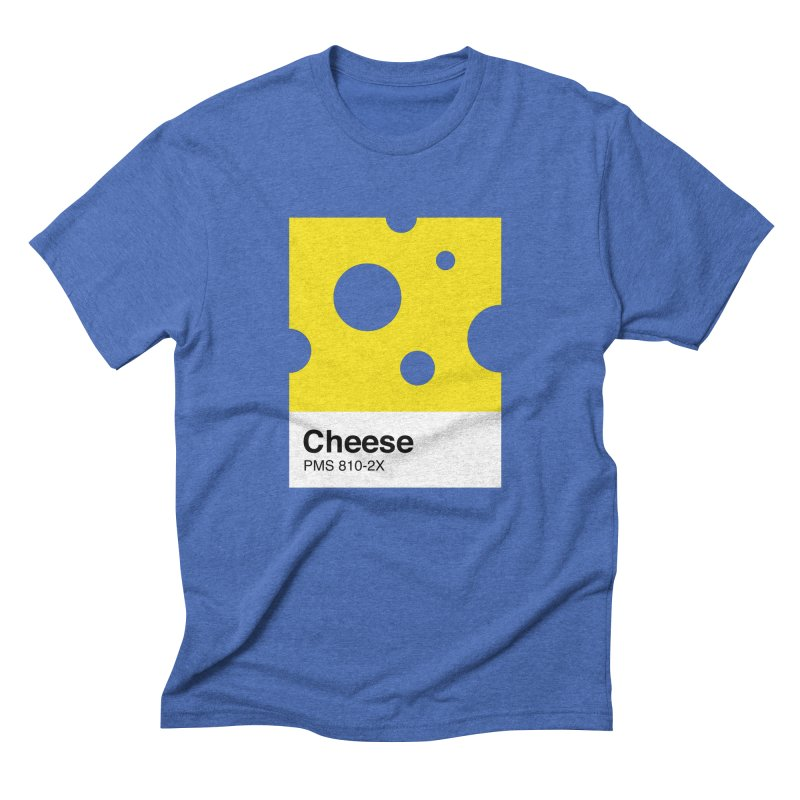 Cheese pantone Men's Triblend T-shirt by tshirtbaba's Artist Shop