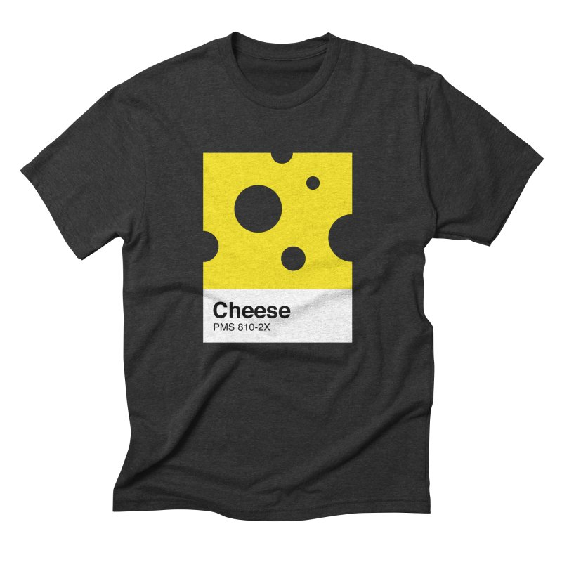 Cheese pantone in Men's Triblend T-Shirt Heather Onyx by tshirtbaba's Artist Shop