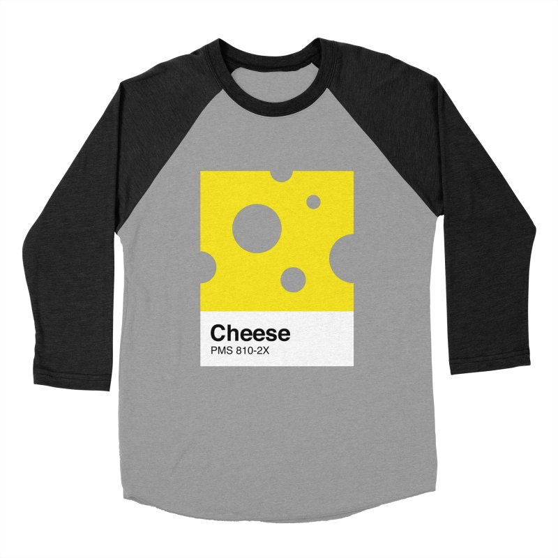 Cheese pantone Men's Baseball Triblend T-Shirt by tshirtbaba's Artist Shop