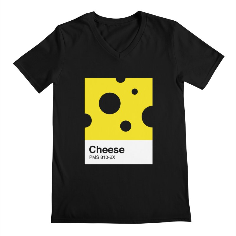 Cheese pantone Men's Regular V-Neck by tshirtbaba's Artist Shop