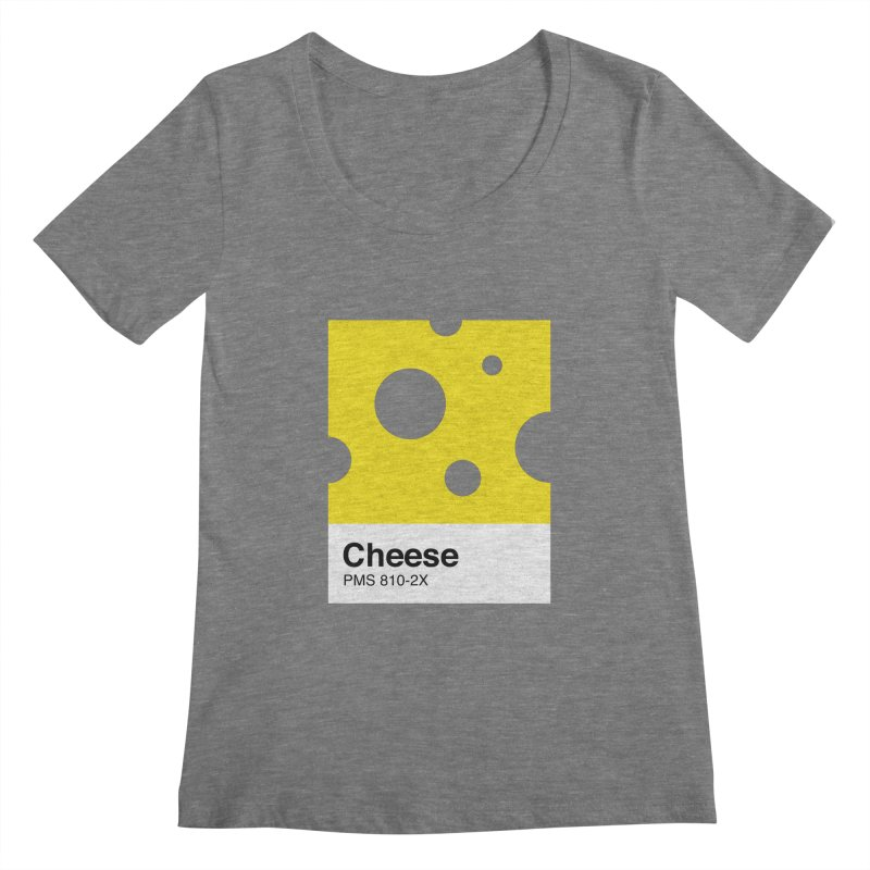 Cheese pantone Women's Scoopneck by tshirtbaba's Artist Shop