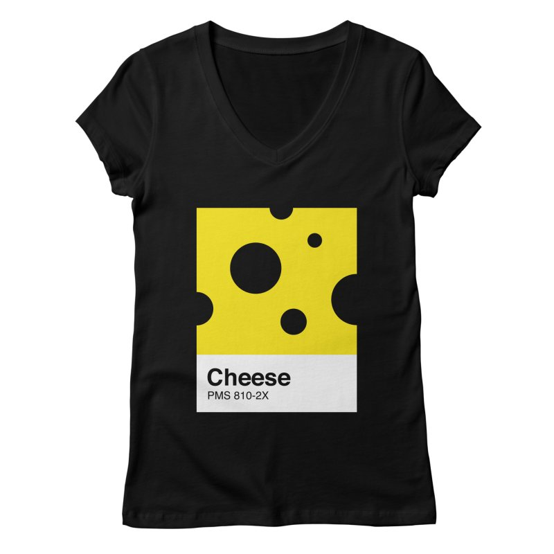 Cheese pantone Women's V-Neck by tshirtbaba's Artist Shop