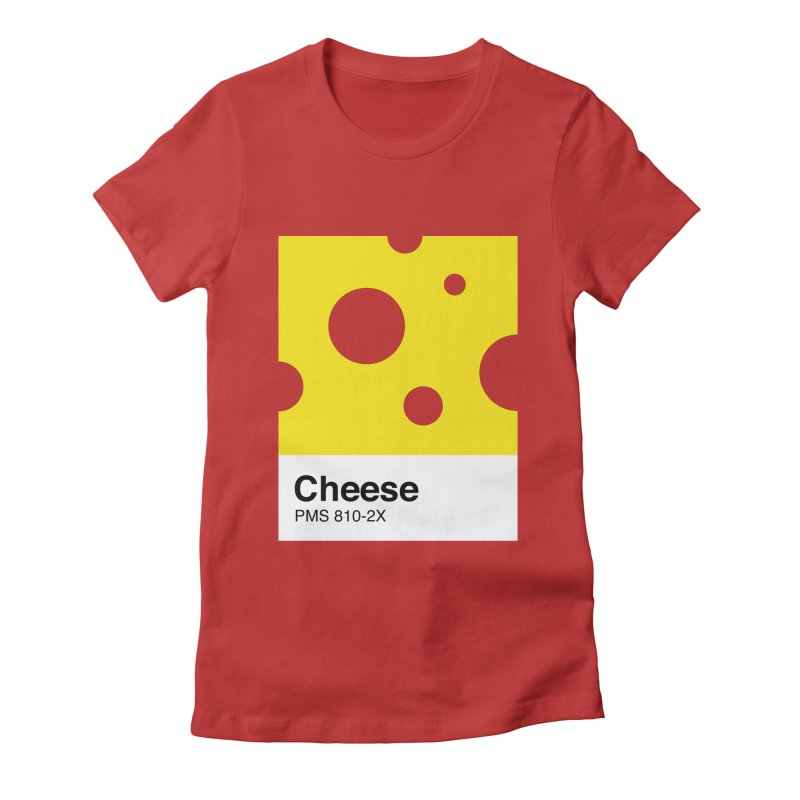 Cheese pantone Women's Fitted T-Shirt by tshirtbaba's Artist Shop