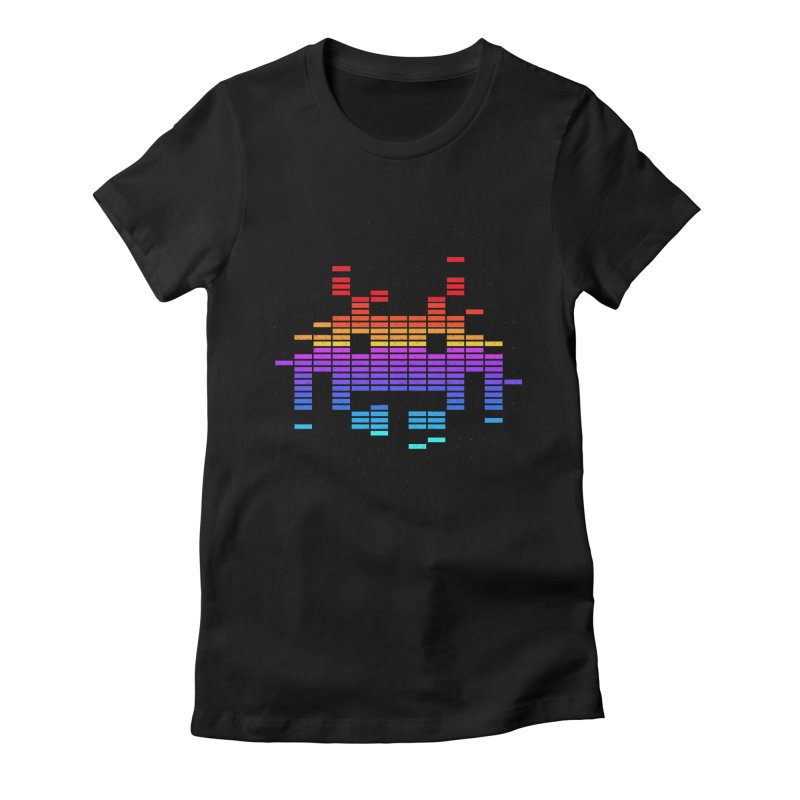 Space Equaliser Women's Fitted T-Shirt by tshirtbaba's Artist Shop
