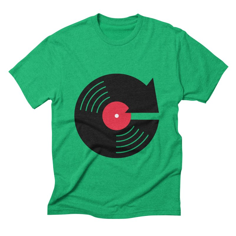 Replay Music Men's Triblend T-shirt by tshirtbaba's Artist Shop