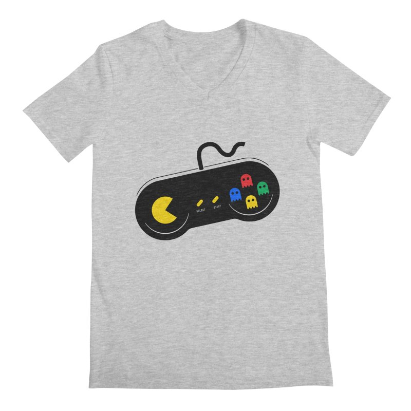 More ghosts and remotes Men's Regular V-Neck by tshirtbaba's Artist Shop
