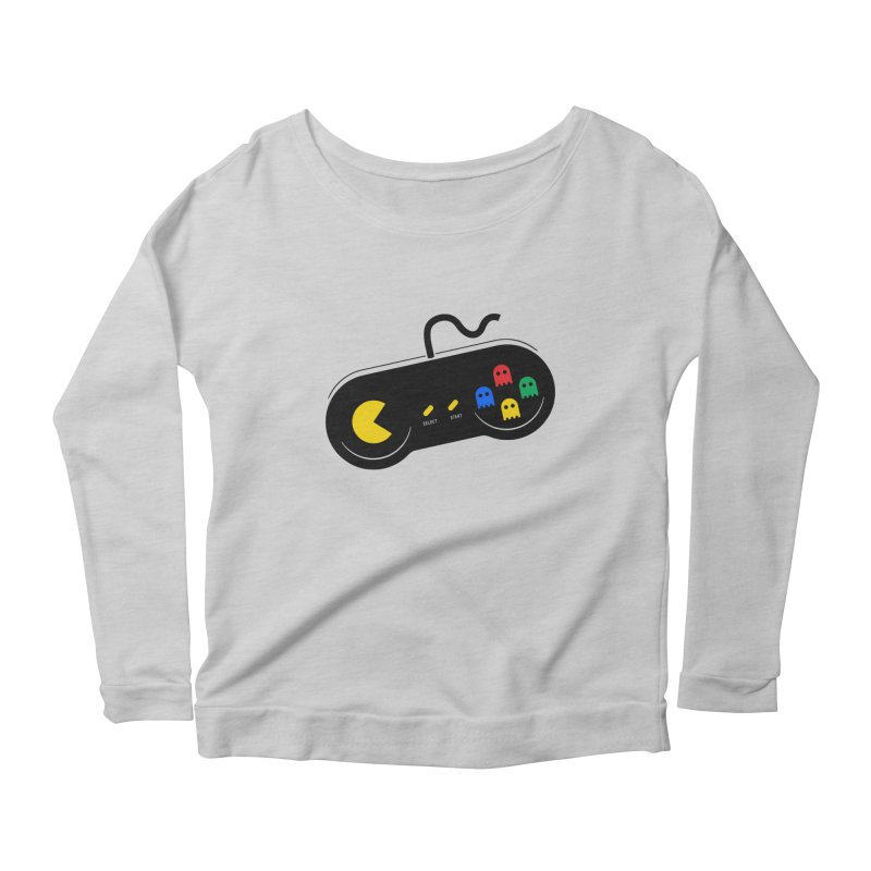 More ghosts and remotes Women's Scoop Neck Longsleeve T-Shirt by tshirtbaba's Artist Shop