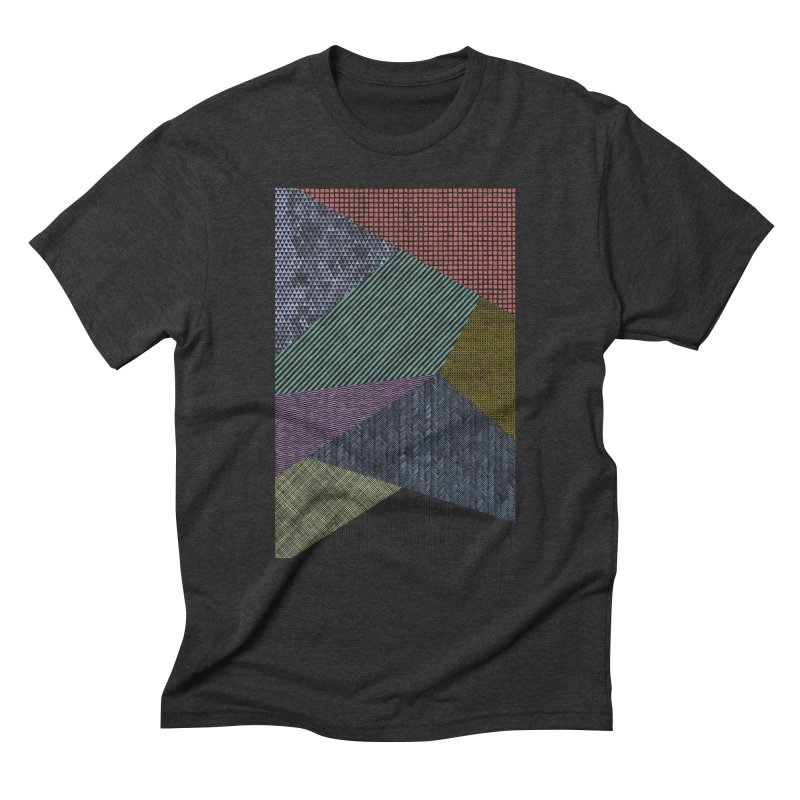 Pattern 2 in Men's Triblend T-Shirt Heather Onyx by The Mindful Tee