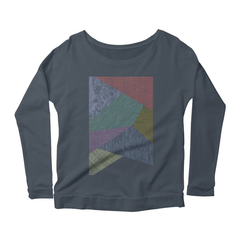 Pattern 2 in Women's Longsleeve Scoopneck  Denim by The Mindful Tee