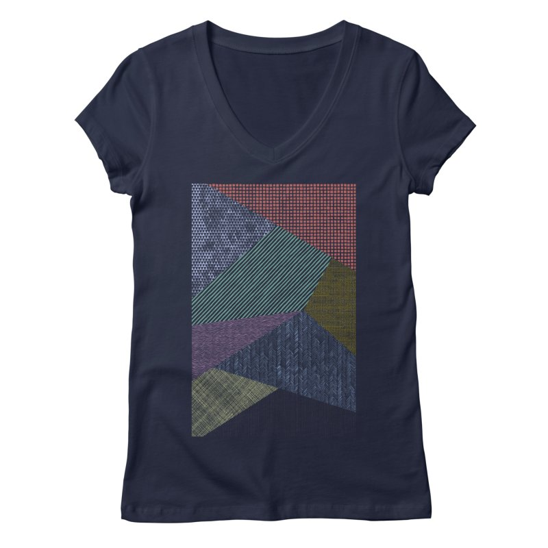 Pattern 2 Women's Regular V-Neck by The Mindful Tee