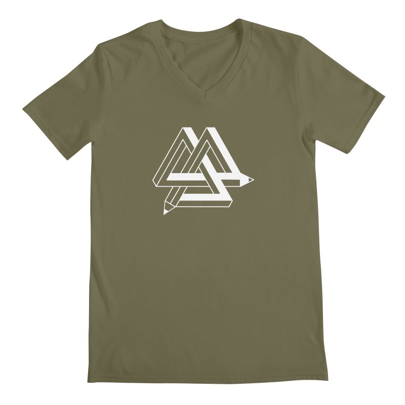 Illusion Men's V-Neck by The Mindful Tee