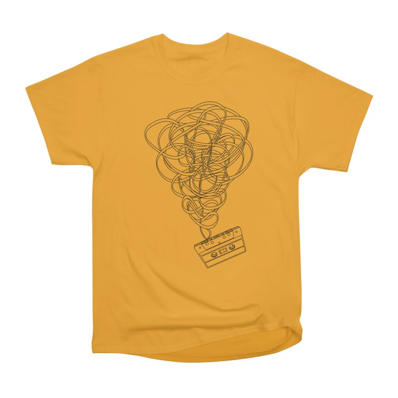 Remix in Men's Classic T-Shirt Gold by The Mindful Tee