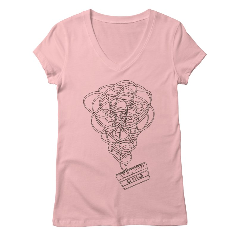 Remix Women's Regular V-Neck by The Mindful Tee