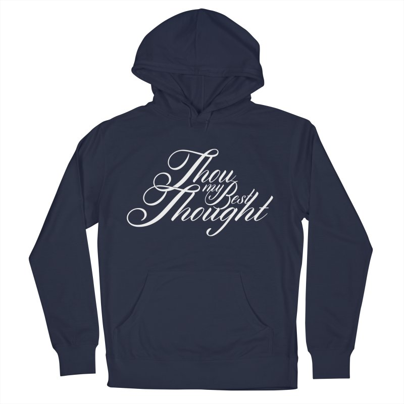 Thou My Best Thought Men's French Terry Pullover Hoody by Tie Them As Symbols