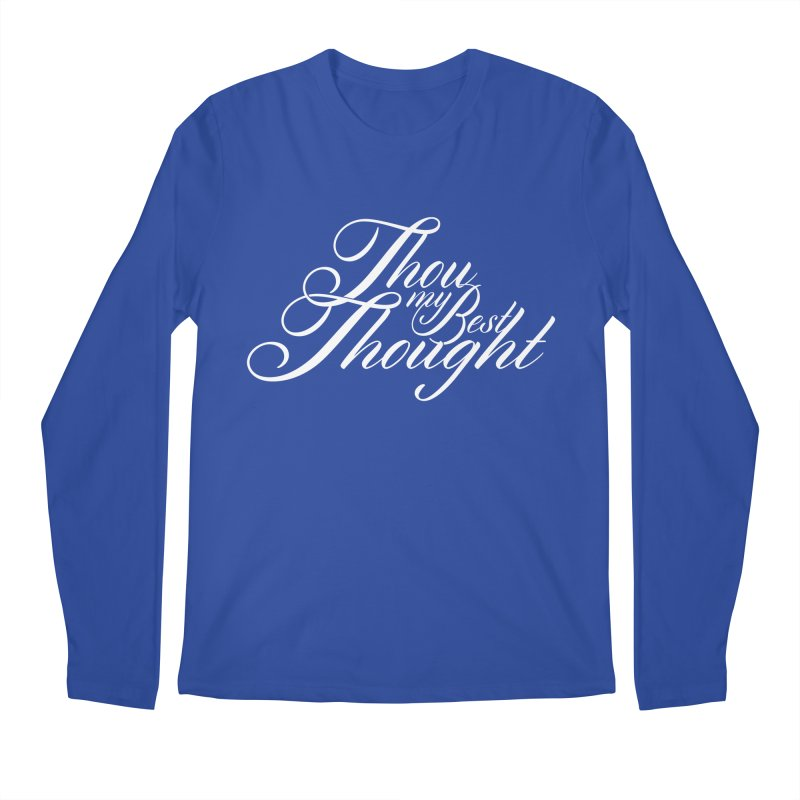 Thou My Best Thought Men's Regular Longsleeve T-Shirt by Tie Them As Symbols
