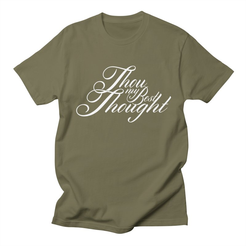 Thou My Best Thought Men's T-shirt by Tie Them As Symbols