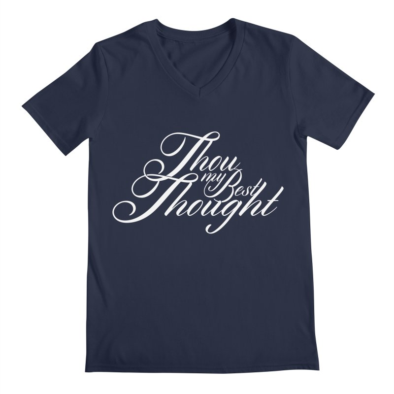 Thou My Best Thought Men's Regular V-Neck by Tie Them As Symbols