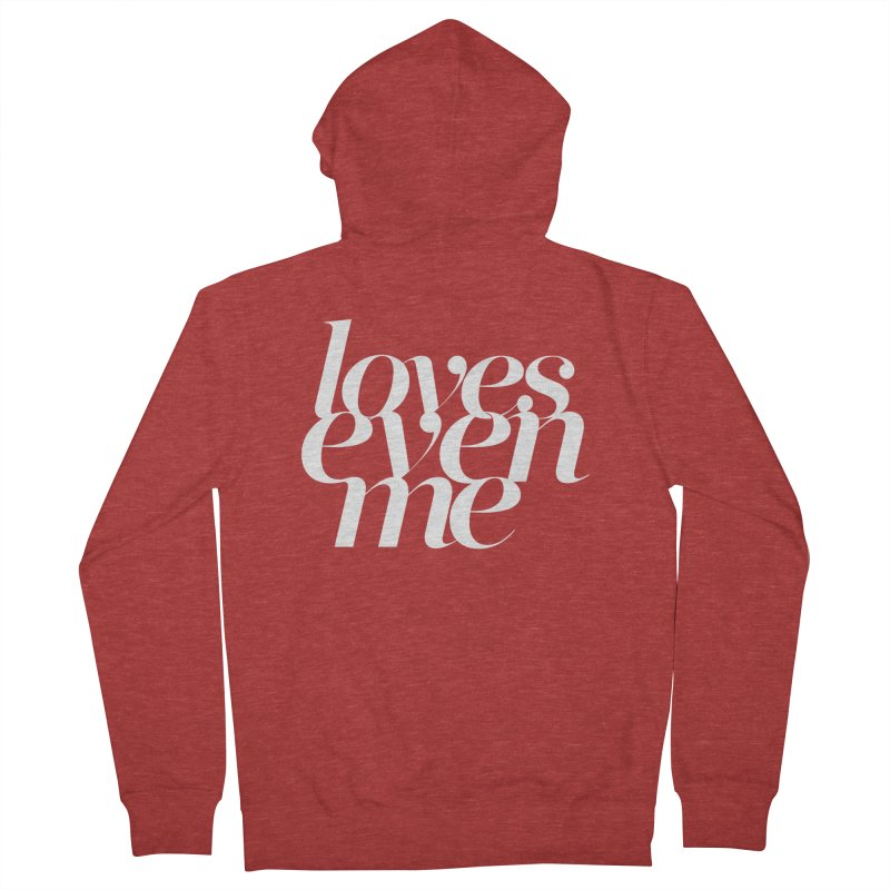 Loves Even Me Women's French Terry Zip-Up Hoody by Tie Them As Symbols