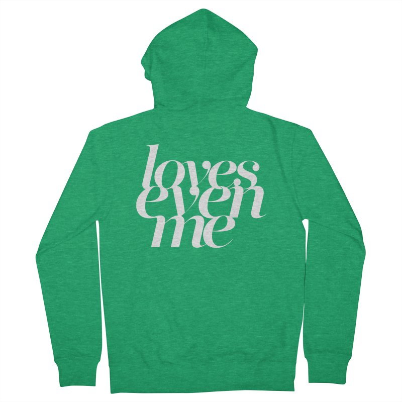 Loves Even Me Men's Zip-Up Hoody by Tie Them As Symbols