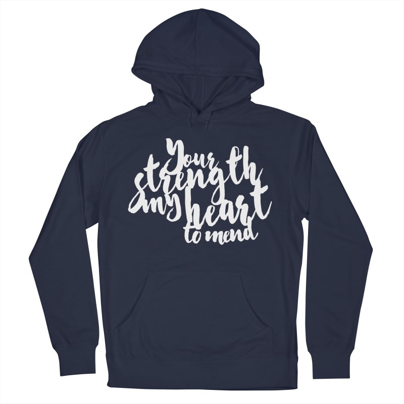Your Strength My Heart To Mend Men's Pullover Hoody by Tie Them As Symbols