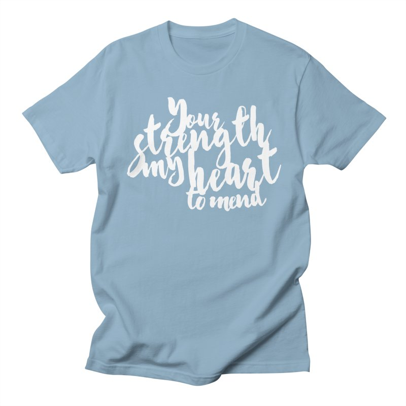 Your Strength My Heart To Mend Men's Regular T-Shirt by Tie Them As Symbols
