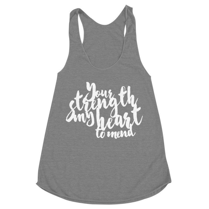 Your Strength My Heart To Mend Women's Racerback Triblend Tank by Tie Them As Symbols