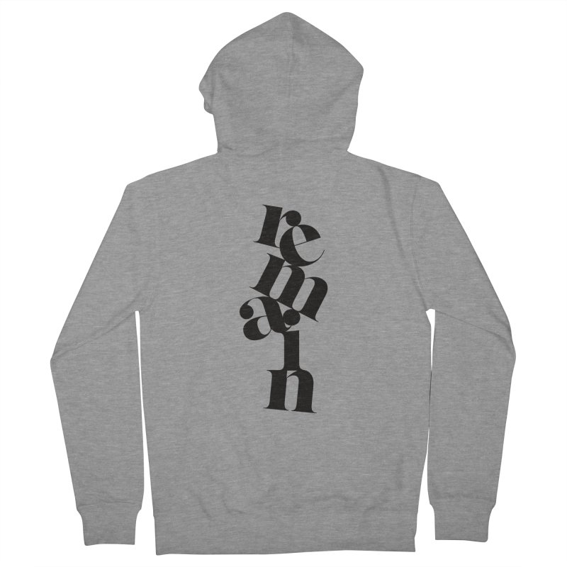Remain Men's French Terry Zip-Up Hoody by Tie Them As Symbols