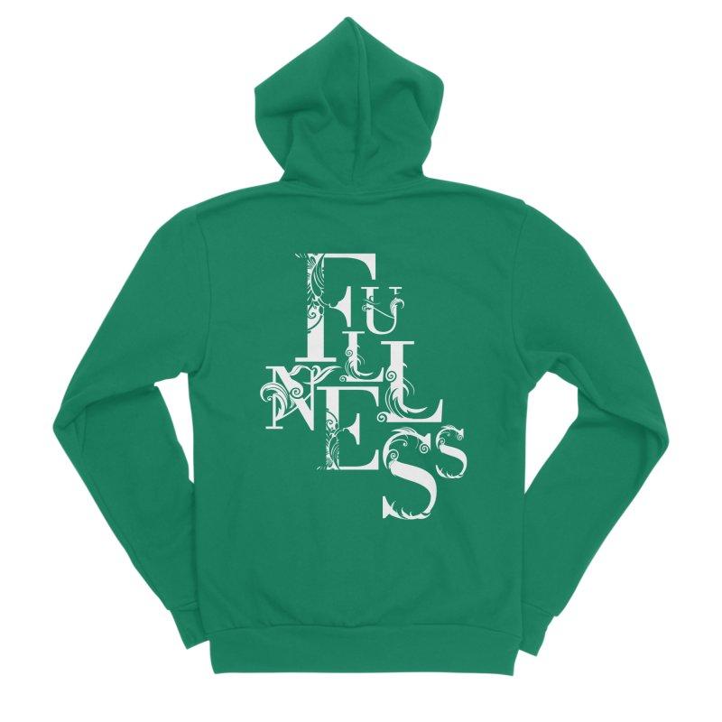 Fullness Men's Sponge Fleece Zip-Up Hoody by Tie Them As Symbols