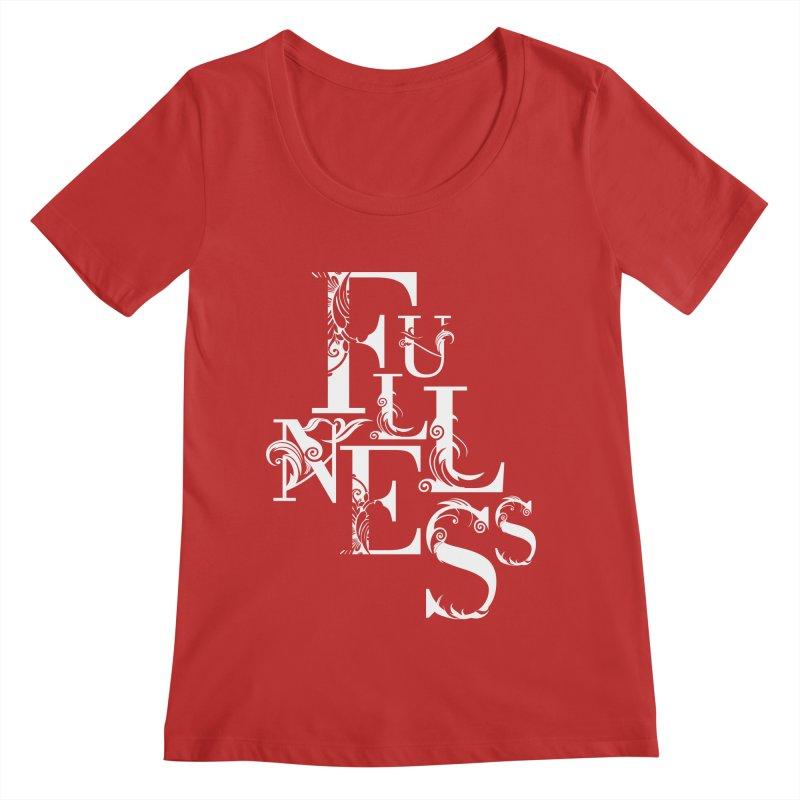 Fullness Women's Regular Scoop Neck by Tie Them As Symbols