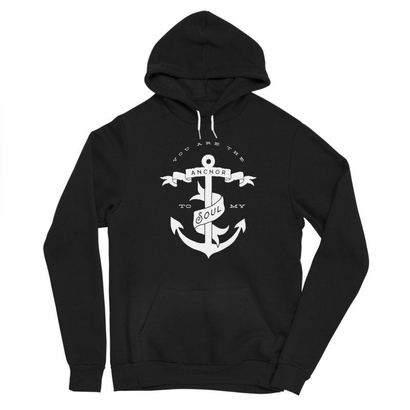 Anchor To My Soul Men's Sponge Fleece Pullover Hoody by Tie Them As Symbols