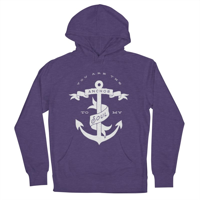 Anchor To My Soul Men's French Terry Pullover Hoody by Tie Them As Symbols
