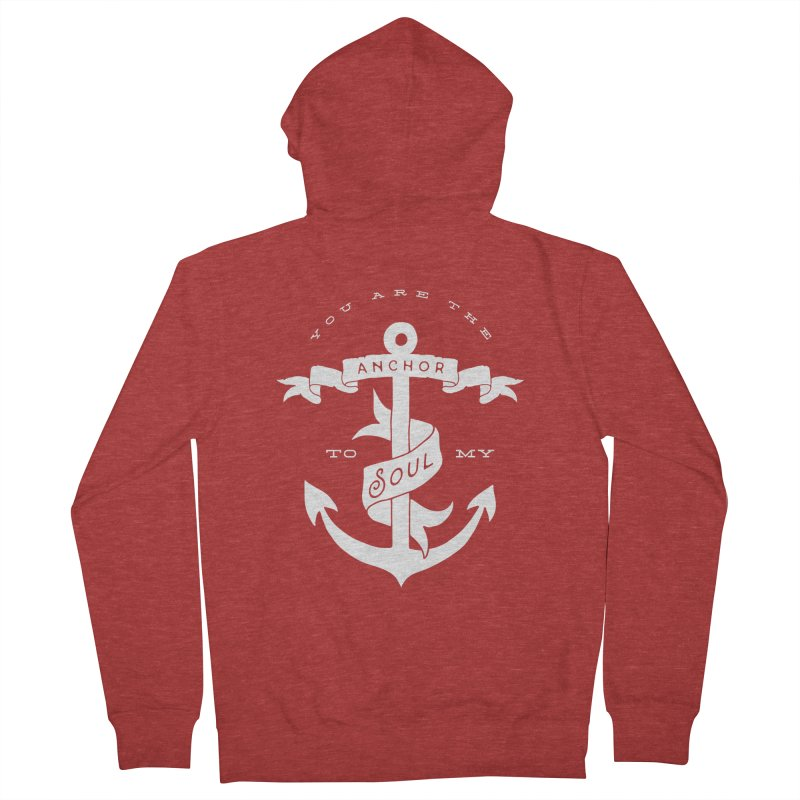 Anchor To My Soul Men's French Terry Zip-Up Hoody by Tie Them As Symbols