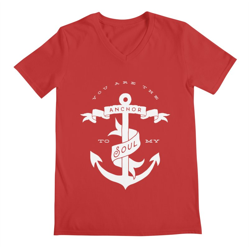Anchor To My Soul Men's V-Neck by Tie Them As Symbols