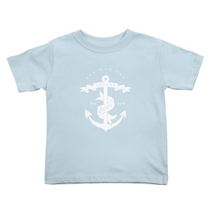 Anchor To My Soul Kids Toddler T-Shirt by Tie Them As Symbols