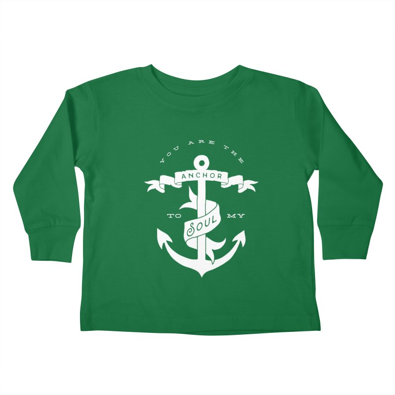 Anchor To My Soul Kids Toddler Longsleeve T-Shirt by Tie Them As Symbols