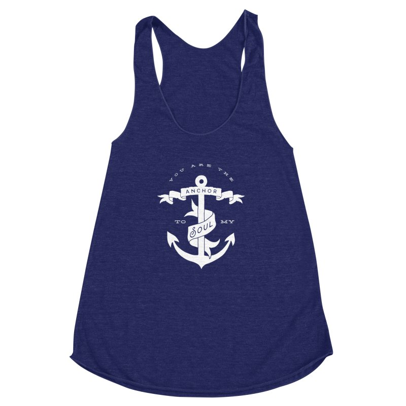 Anchor To My Soul Women's Racerback Triblend Tank by Tie Them As Symbols
