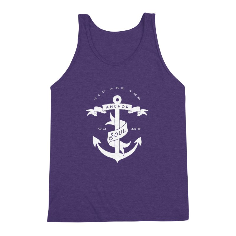 Anchor To My Soul Men's Triblend Tank by Tie Them As Symbols