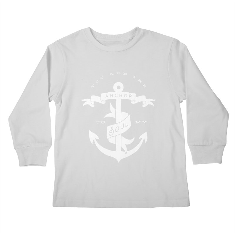 Anchor To My Soul Kids Longsleeve T-Shirt by Tie Them As Symbols