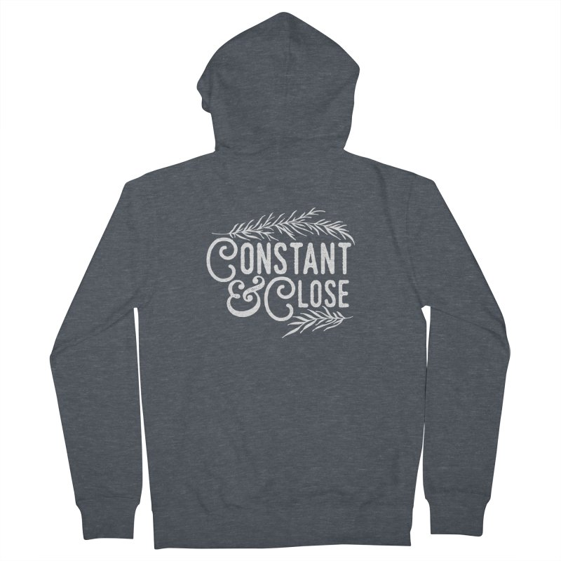 Constant & Close Men's French Terry Zip-Up Hoody by Tie Them As Symbols