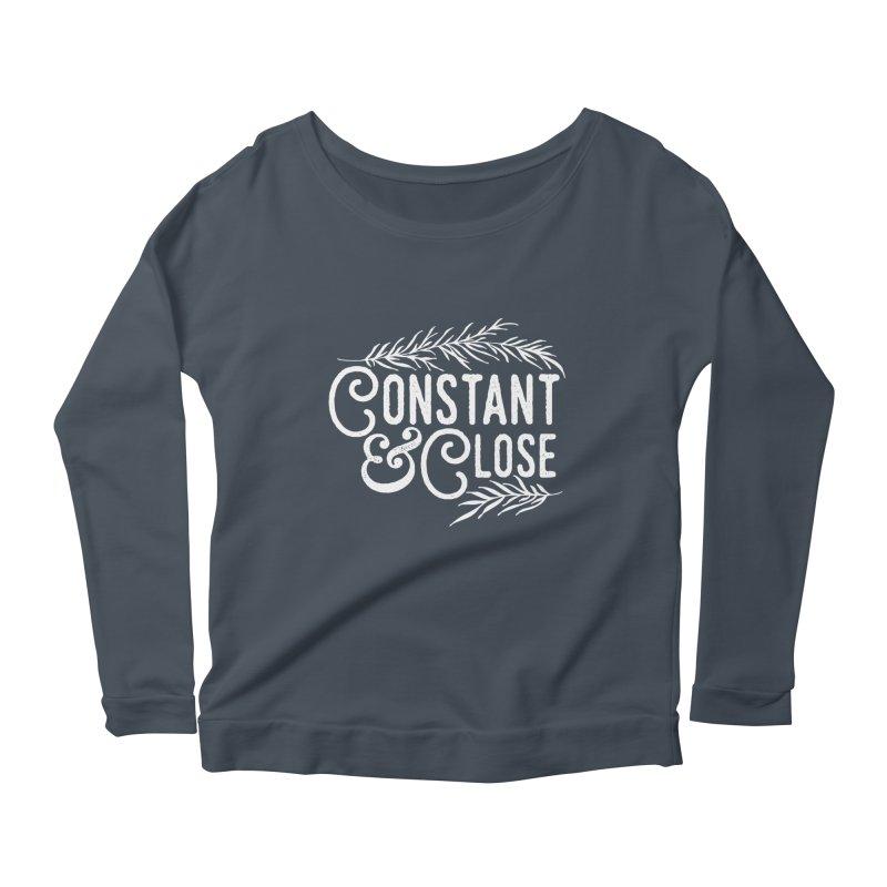 Constant & Close Women's Scoop Neck Longsleeve T-Shirt by Tie Them As Symbols