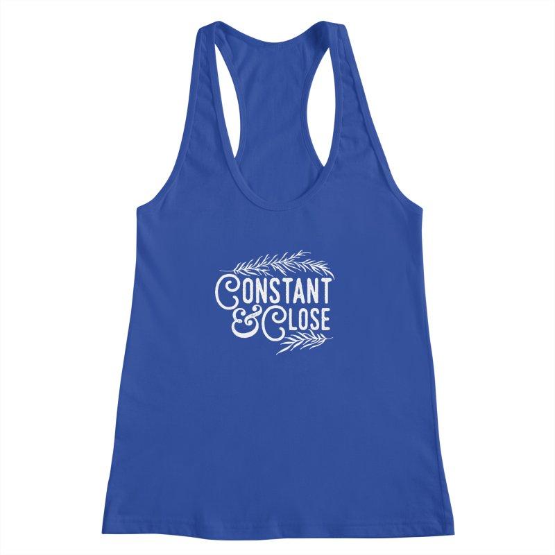 Constant & Close Women's Racerback Tank by Tie Them As Symbols