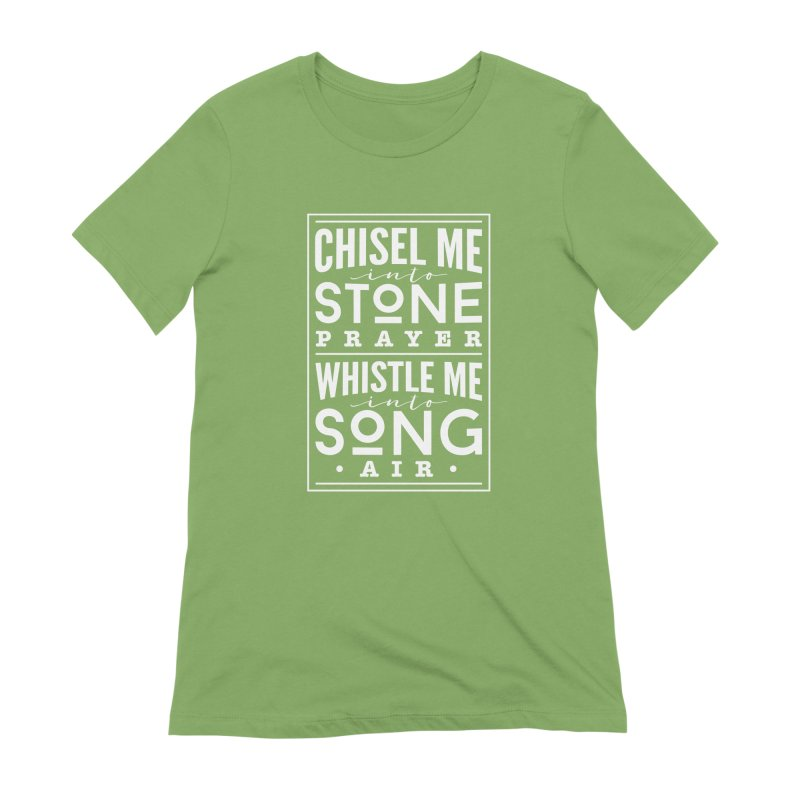 Chisel Me & Whistle Me Women's Extra Soft T-Shirt by Tie Them As Symbols