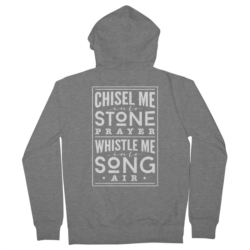 Chisel Me & Whistle Me Women's French Terry Zip-Up Hoody by Tie Them As Symbols