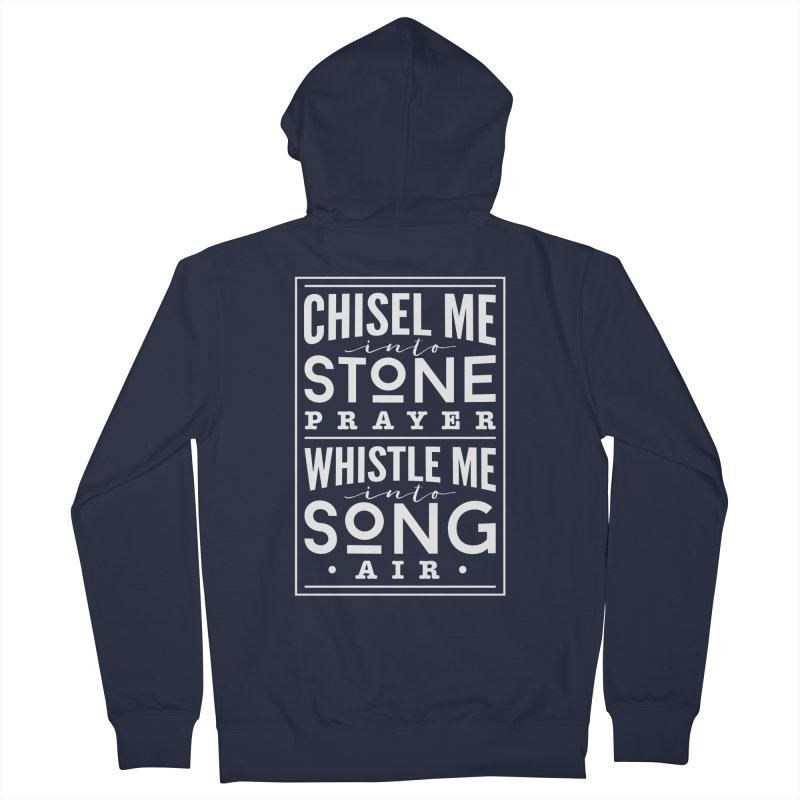 Chisel Me & Whistle Me Men's French Terry Zip-Up Hoody by Tie Them As Symbols