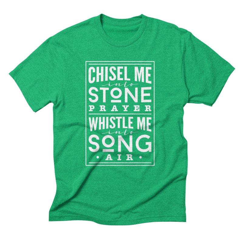 Chisel Me & Whistle Me Men's Triblend T-Shirt by Tie Them As Symbols
